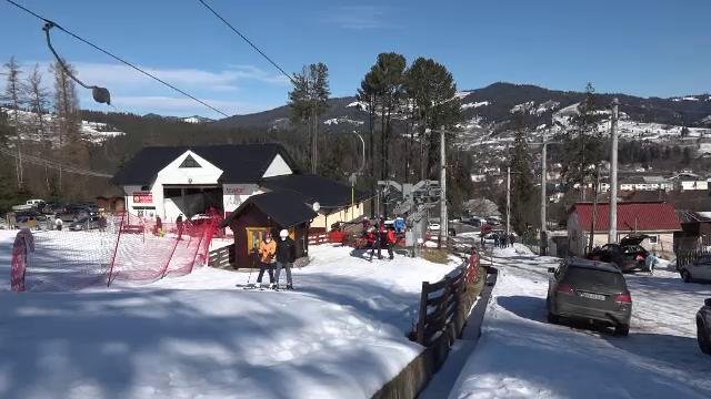 """Vatra Dornei, preferată de turiști pentru schi. Cum arată acum """"Perla Bucovinei"""""""