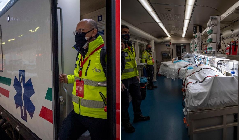 Europa, îngenuncheată de al treilea val al pandemiei. Italia a introdus un tren de terapie intensivă