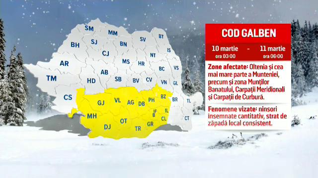 Iarna se întoarce în forță. Când începe să ningă în Bucureşti