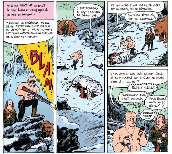 Vladimir Putin, erou de benzi desenate. Cum apare președintele rus