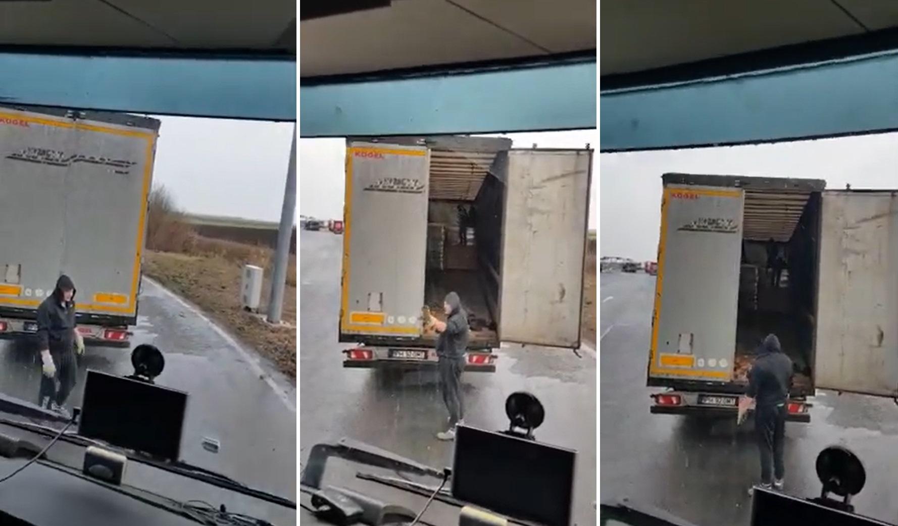 """Surpriza de care a avut parte un șofer de TIR, în Vama Nădlac. Ce a descoperit în remorcă. """"Am auzit ceva zgomote"""""""