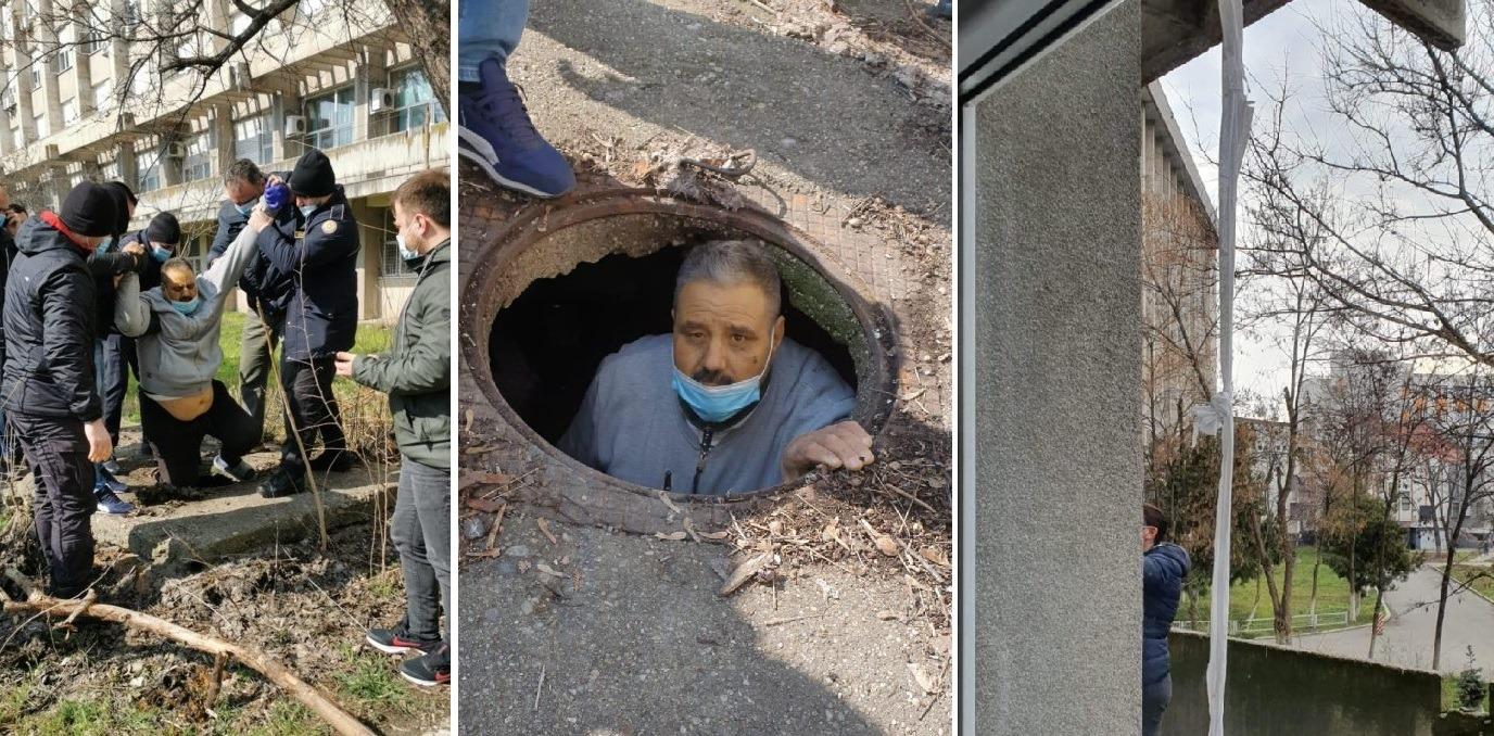 A fost prins deținutul evadat de la spitalul din Craiova. A coborât pe cearșafuri și s-a ascuns în canal