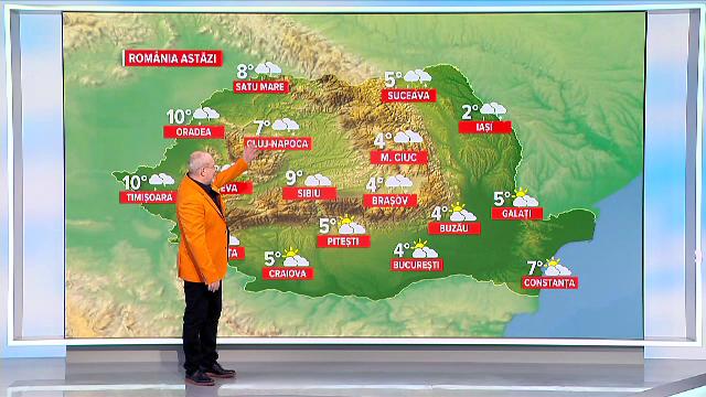 Vremea azi, 13 martie. Vin zile mohorâte și ploi în toată țara
