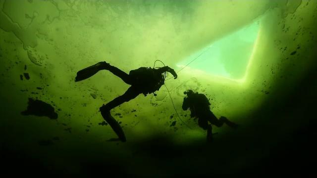 Curajoșii sunt așteptați în apele reci ale Mării Albe. Rușii au deschis o galerie de artă subacvatică