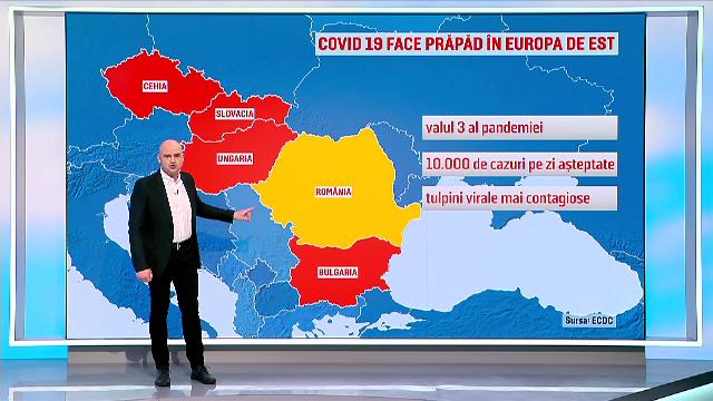 Când va atinge România vârful valului 3. Vom avea 10.000 de noi infectări zilnice