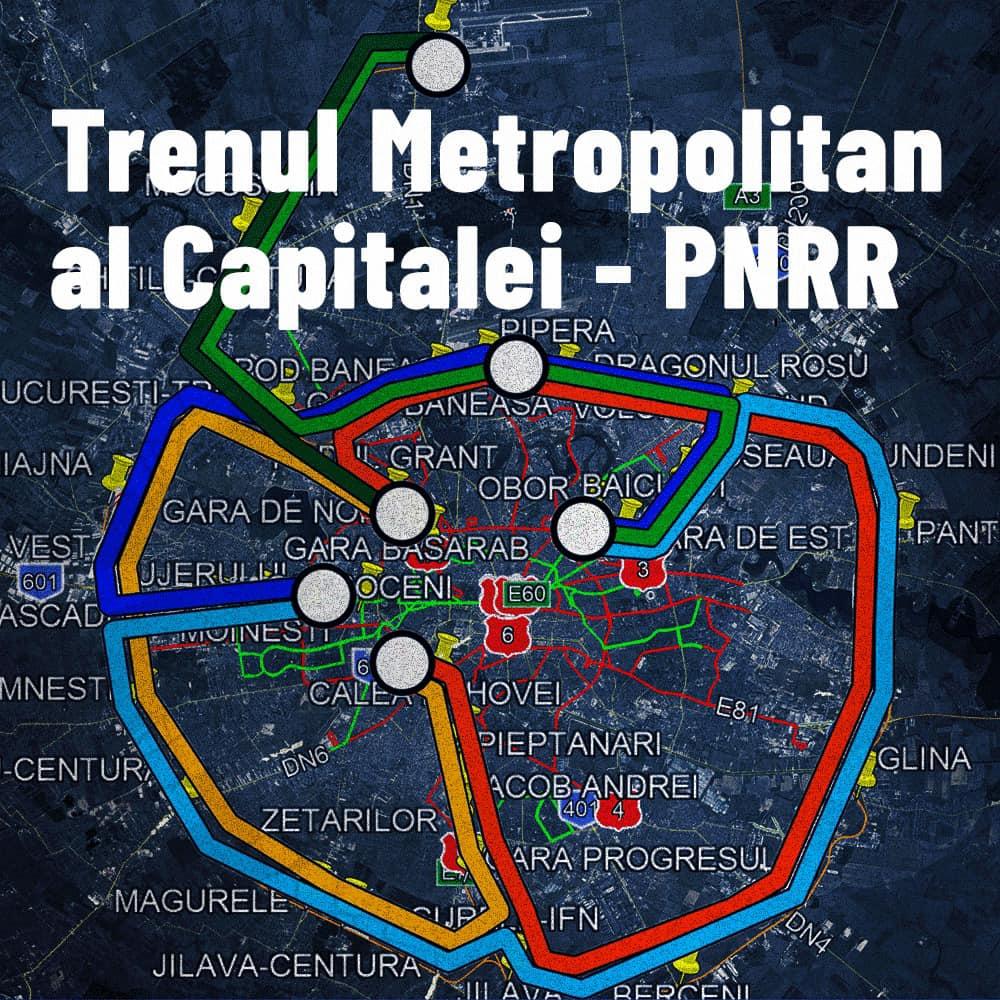 Cum va arăta rețeaua trenului metropolitan al Capitalei. Nicușor Dan cere 530 de milioane euro