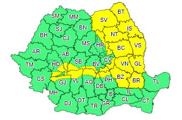 Cod galben de ninsori până joi dimineață. Ce regiuni sunt vizate