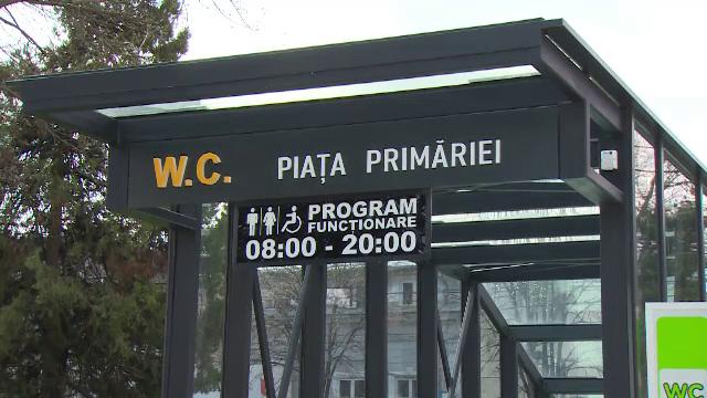 Cea mai scumpă toaletă publică din România, inaugurată la Pitești. Cum arată și cât a costat