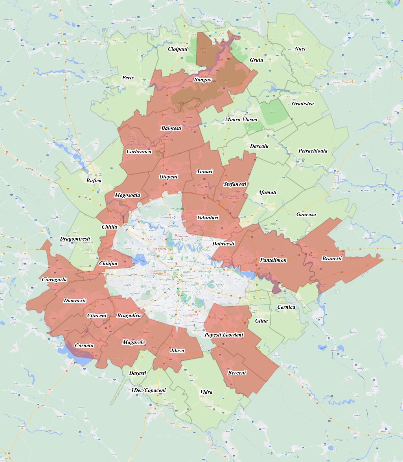 Lista localităților din județul Ilfov care se află în carantină. DOCUMENT