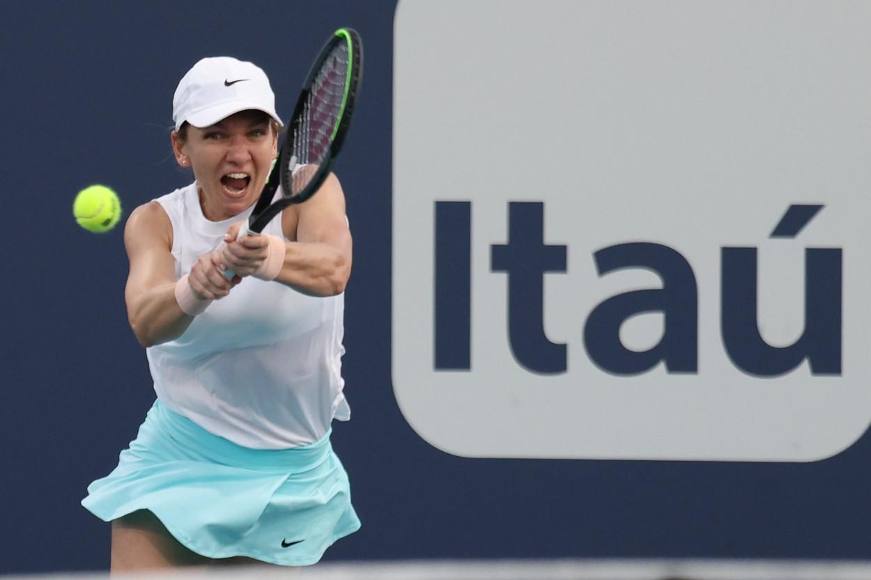 Simona Halep, revenire spectaculoasă la Miami. S-a calificat deși a fost condusă 3-6, 1-3 de Garcia