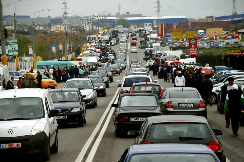 Paradox: ambuteiaje enorme la Moscova de Ziua Mondiala fara Masini