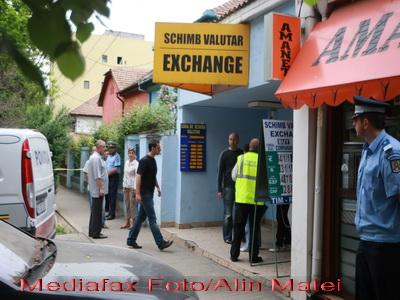 Jaf la o casa de schimb valutar de pe Calea Mosilor din Capitala