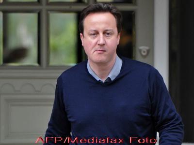 Un sobolan i-a luat fata lui David Cameron. A captat toata atentia