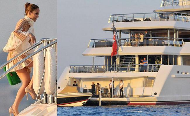 Lux extrem la Cannes: J. Lo a inchiriat un yacht cu 28 de mil. de dolari