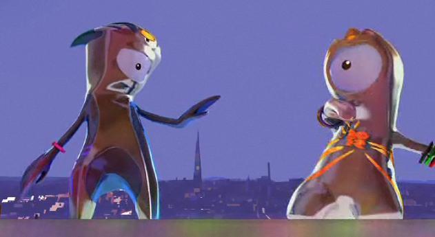 Mascotele Jocurilor Olimpice din 2012: ciclopi-extraterestri