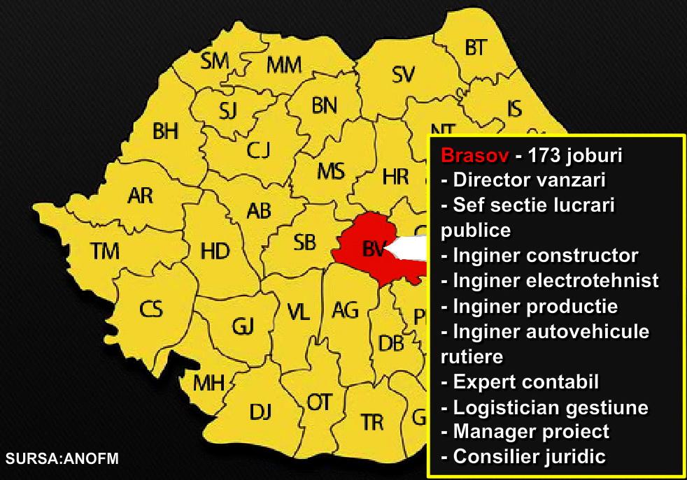 Avem 5 someri pentru fiecare loc de munca liber. HARTA joburilor din Romania