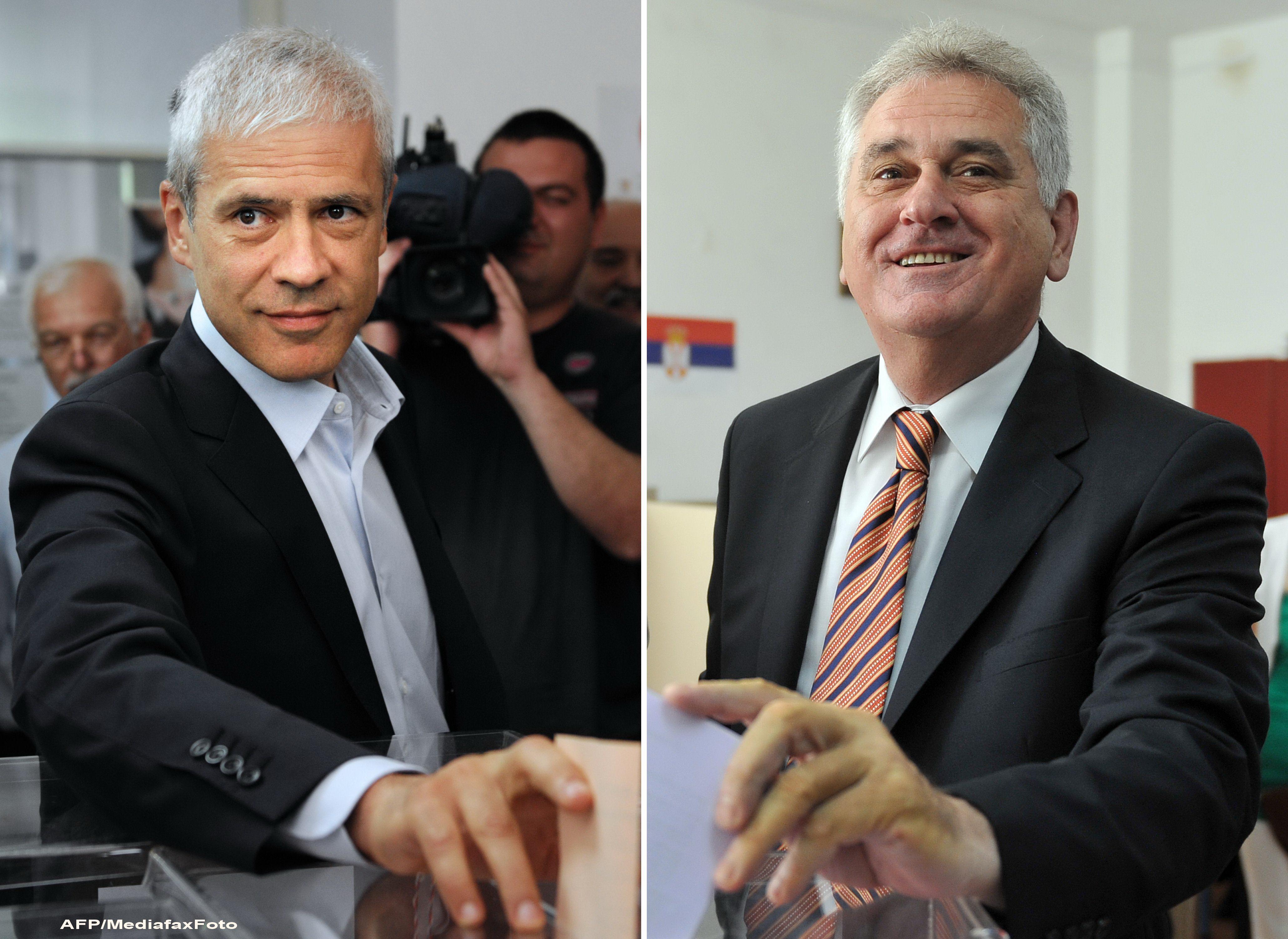 Alegeri in Serbia. Boris Tadic si Tomislav Nikolic se vor confrunta in turul doi la prezidentiale