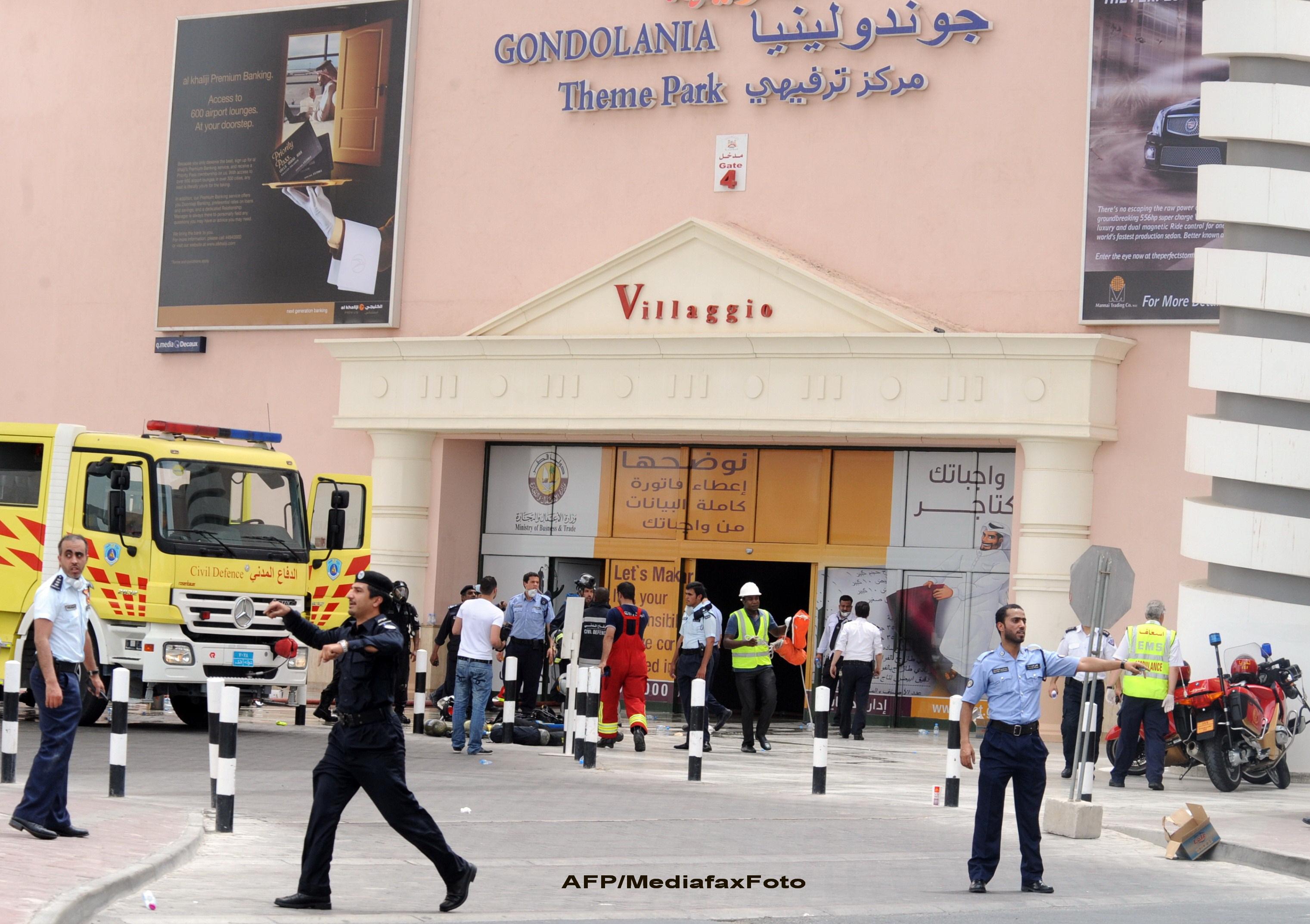Tragedie in Qatar, in cel mai mare mall din Golful Persic. 13 copii si 6 adulti au murit in incendiu