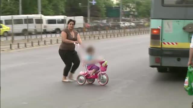 Peste 3.000 de pietoni din Bistrita au fost sanctionati pentru traversare neregulamentara