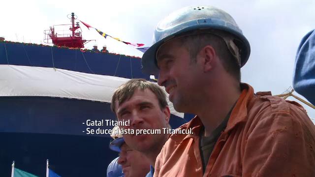 Victor Ponta a lansat pe muzica din Titanic o nava construita integral in santierul din Constanta