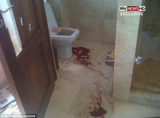 Imaginile publicate cu urmele de sange din baia lui Oscar Pistorius, locul unde si-a ucis iubita