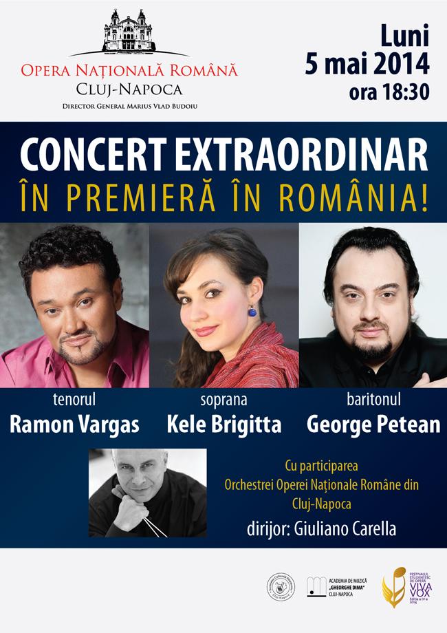 Al treilea tenor al lumii, in premiera, la Opera Nationala Romana din Cluj-Napoca