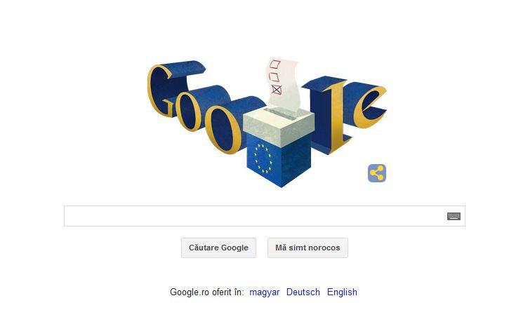 ALEGERI EUROPARLAMENTARE 2014. Google marcheaza votul pentru ALEGERI EUROPARLAMENTARE 2014 printr-un Doodle special