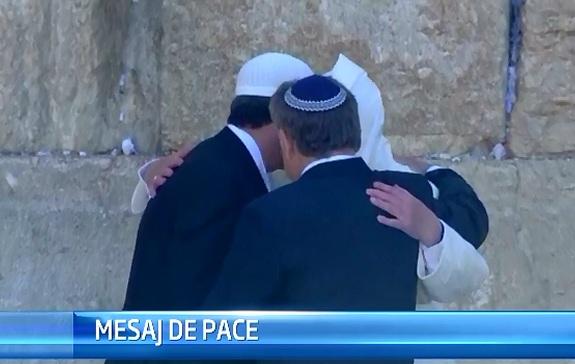 STIRI EXTERNE PE SCURT. Papa Francisc, un rabin si un musulman, impreuna la Zidul Plangerii