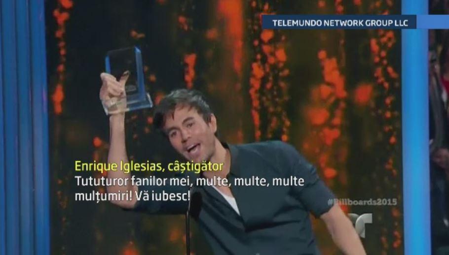 Enrique Iglesias si Romeo Santos, marii castigatori ai premiilor Billboard latino. Jennifer Lopez a ridicat sala in picioare