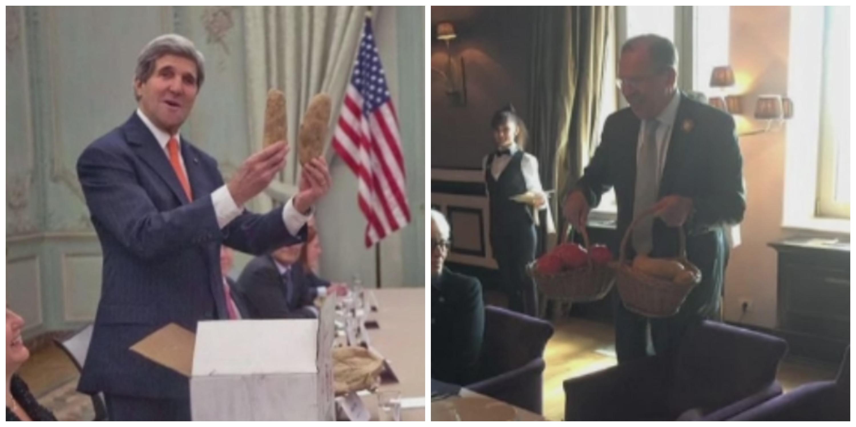 Cadourile neobisnuite pe care secretarul de stat american John Kerry le-a primit de la ministrul rus de Externe, la Soci