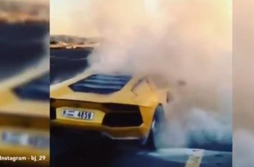 Un Lamborghini de 345.000 de euro, distrus in cateva minute de un incendiu. Ce s-a intamplat. VIDEO