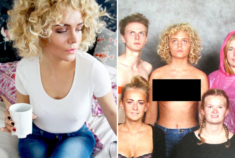 Controverse dupa ce o eleva a pozat topless pentru anuarul scolii, iar fotografia a fost publicata. Explicatia gestului