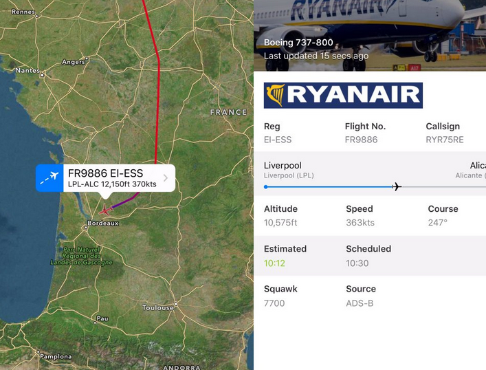 Doua aeronave Ryanair si Germanwings au cerut aterizare de urgenta la Bordeaux