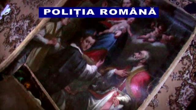 Actiune cu final neasteptat. Politistii se asteptau sa gaseasca arme, dar au descoperit tablouri valoroase, furate din Italia