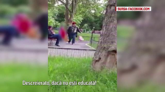 O fetita a fost bruscata de bona intr-un parc din Capitala: