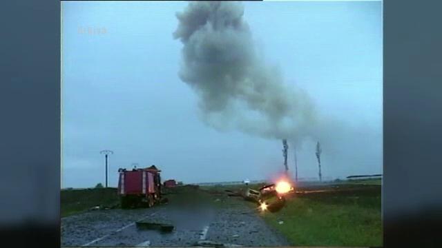 12 ani de la tragedia din Mihailesti, in care au murit 18 oameni. Rudele victimelor au mers la o slujba de pomenire