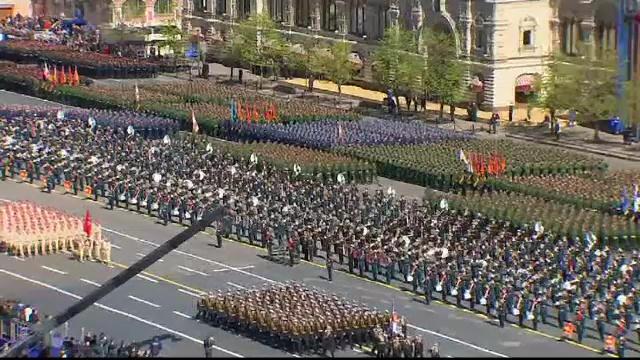 Rusii fac pregatiri pentru sarbatoarea dedicata infrangerii Germaniei naziste. Parade in Moscova si in alte 26 de orase