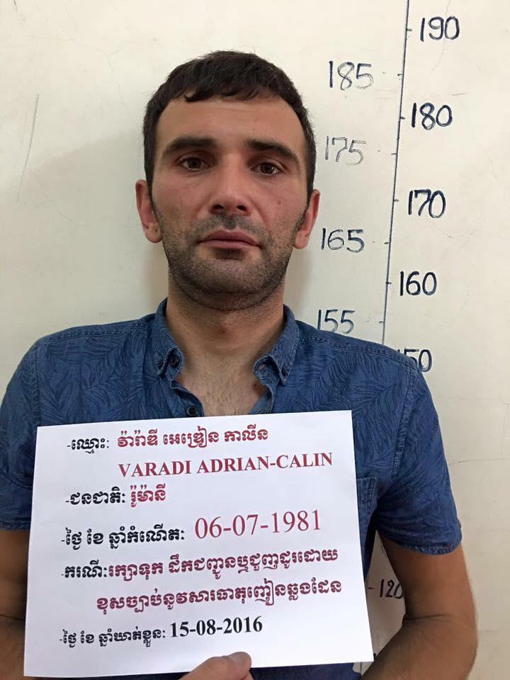 Romanul Adrian-Calin Varadi, condamnat la inchisoare pe viata in Cambodgia pentru trafic de droguri