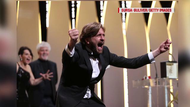 Cannes 2017. Regizorul filmului The Square, care a castigat marele premiu, a facut show pe scena:
