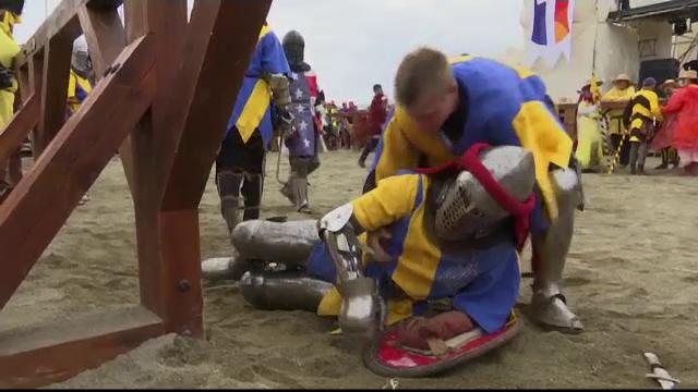 """Lupte medievale în apropierea Romei. 80 de """"cavaleri"""" au ajuns la urgențe cu răni grave"""