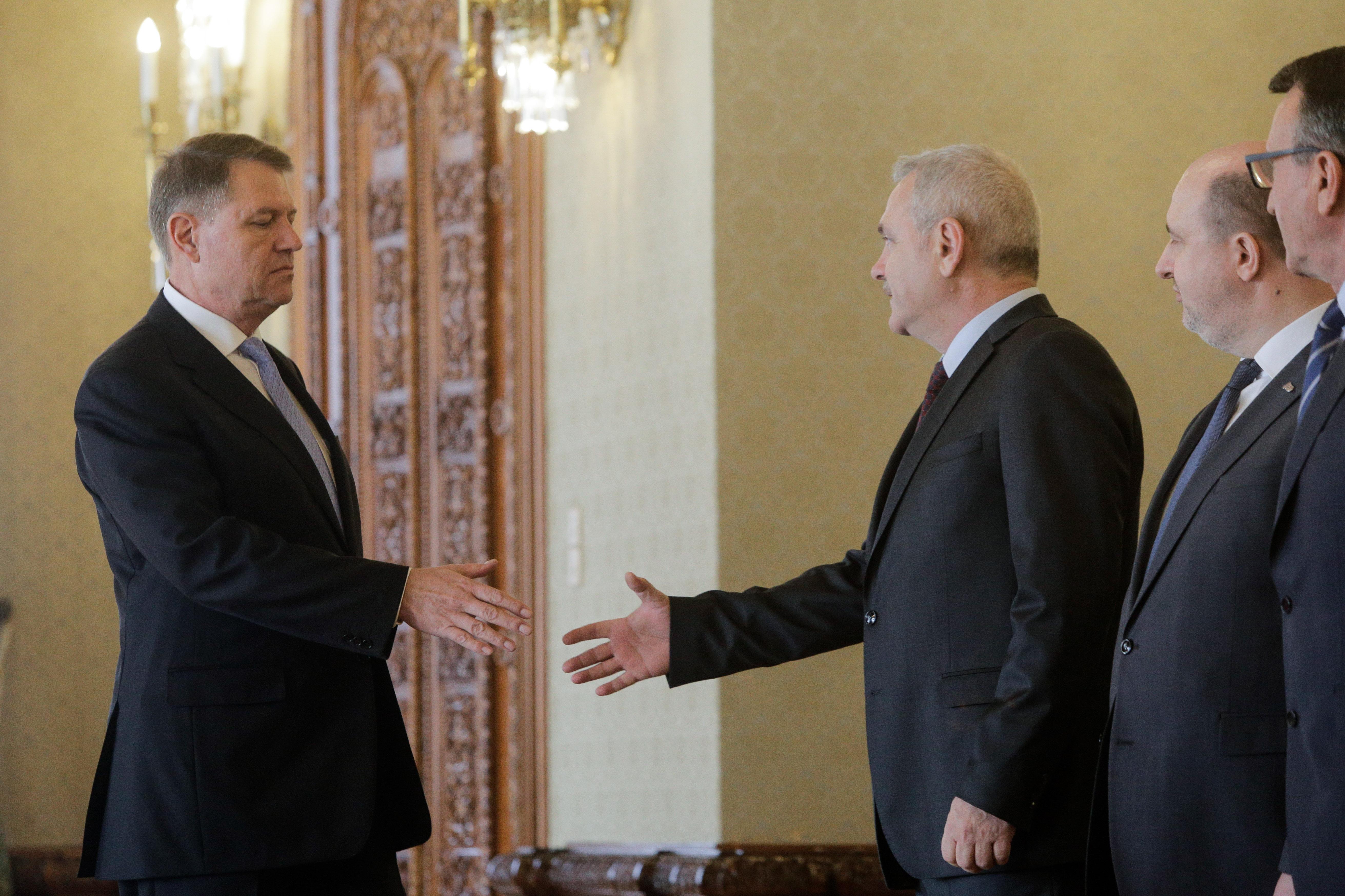 """Iohannis, înainte de discuția cu Dragnea: """"Eu nu vreau niciun pact cu PSD-ul"""""""