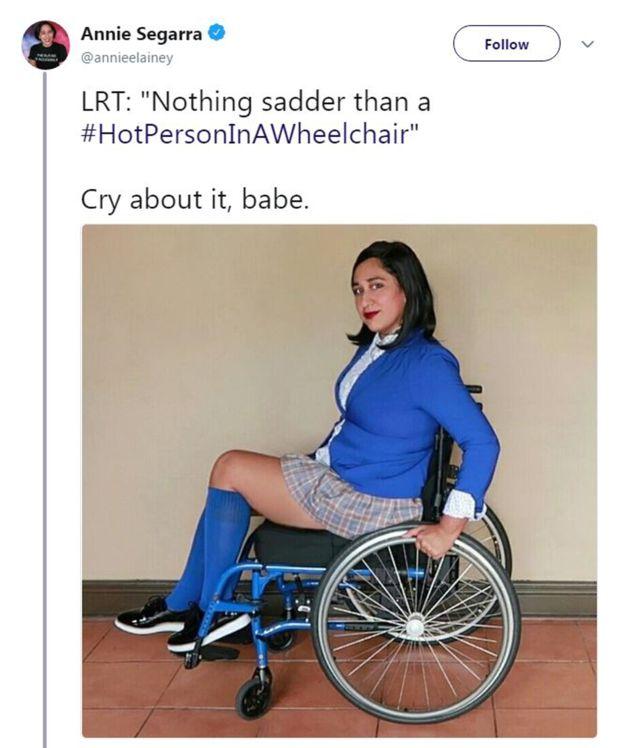 Mesajul motivațional postat de o tânără în scaun cu rotile, după ce a fost jignită