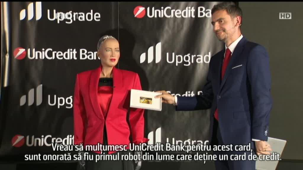 (P) UniCredit Bank a oferit, în premieră, primul card de credit unui robot