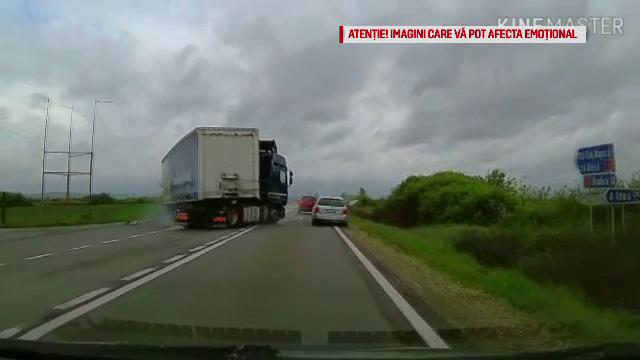 Un actor din România a filmat cu camera de bord un accident în care a murit o persoană