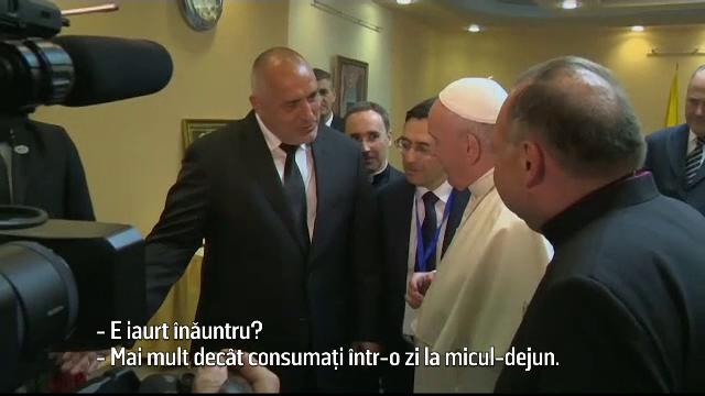 Mesajul Papei Francisc pentru bulgari. A primit un borcan uriaş cu iaurt de la premier