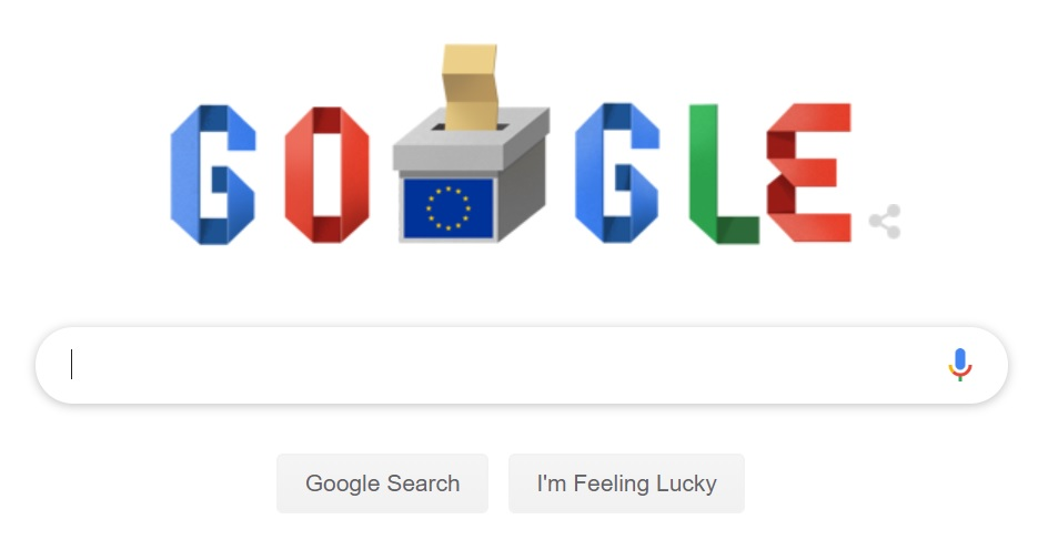 Google are un doodle special pentru ziua alegerilor europarlamentare din România