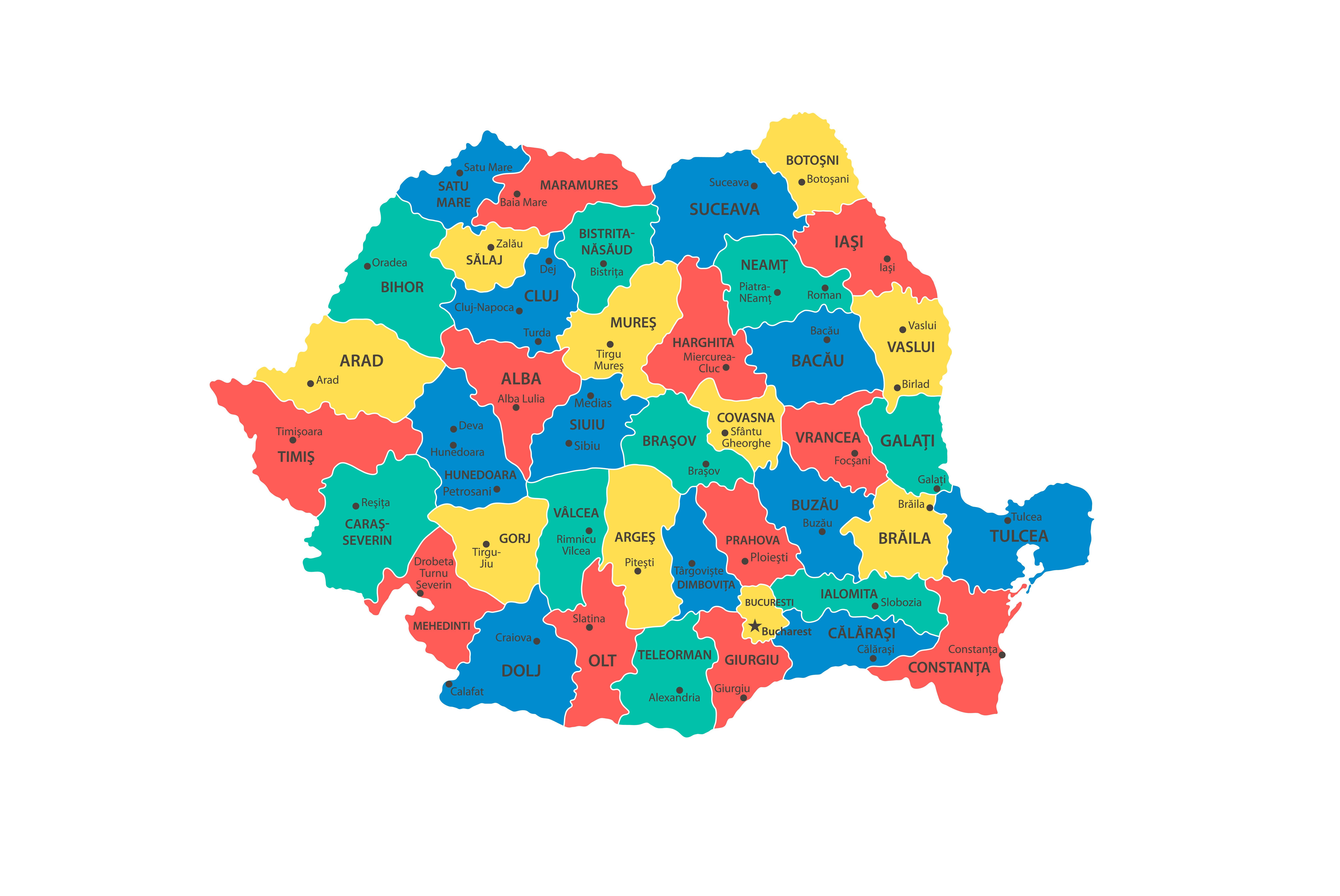 Doar Capitala şi 13 judeţe mai sunt în scenariu galben. Zonele cu cele mai puține cazuri