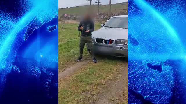 """Dosare penale în urma unui video apărut online. """"Ia uitați ce are tata în mână pentru dușmani"""""""
