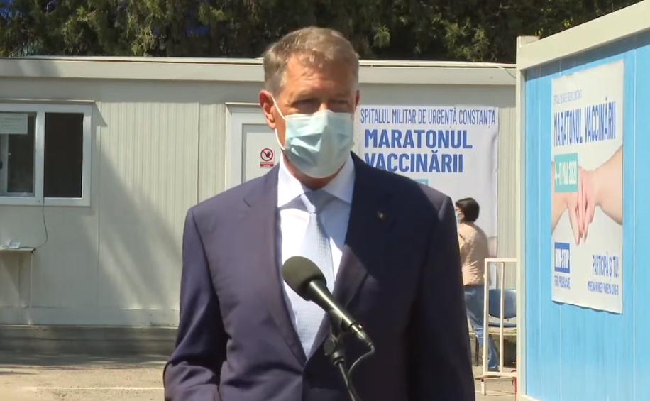 Klaus Iohannis: Stăm extraordinar de bine cu campania de vaccinare
