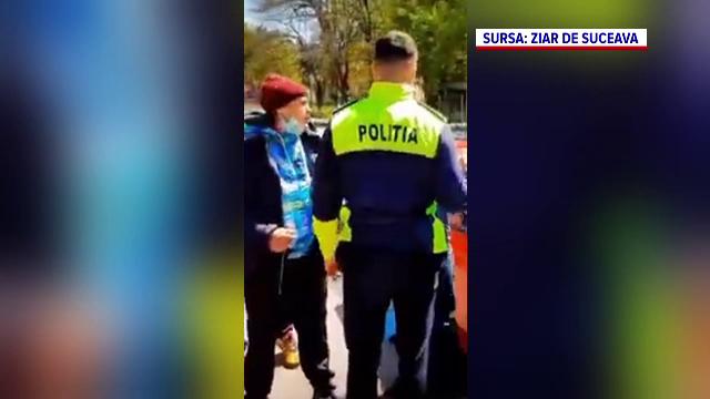 Doi indivizi din Suceava, încătușați de polițiști, după ce li s-a refuzat intrarea într-un bar